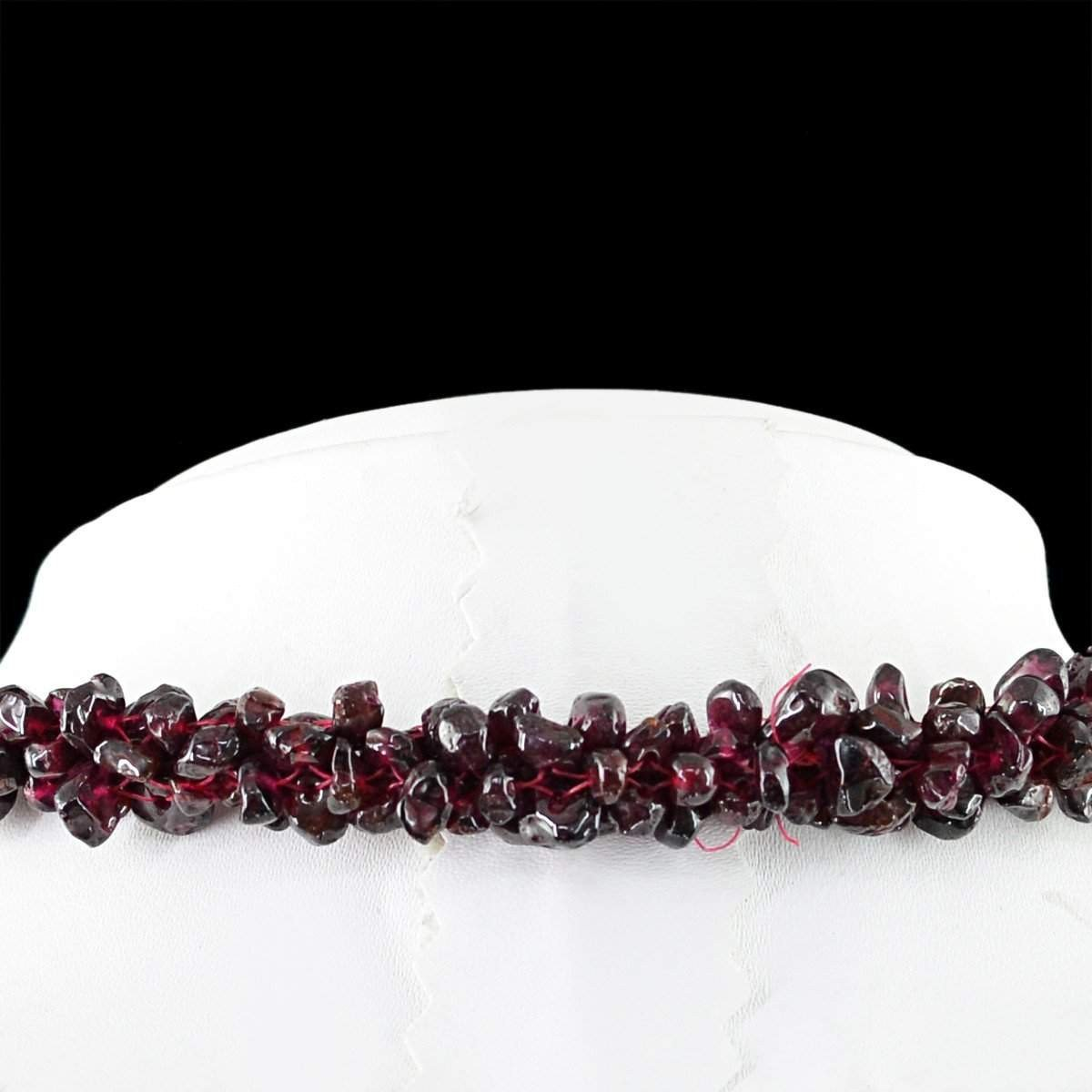 gemsmore:EXCLUSIVE : Genuine 505.00 Cts Rare Red Garnet Beads Necklace
