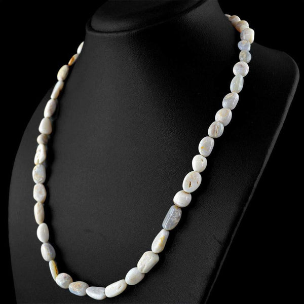 gemsmore:Exclusive Natural Australian Opal Necklace Untreated Beads