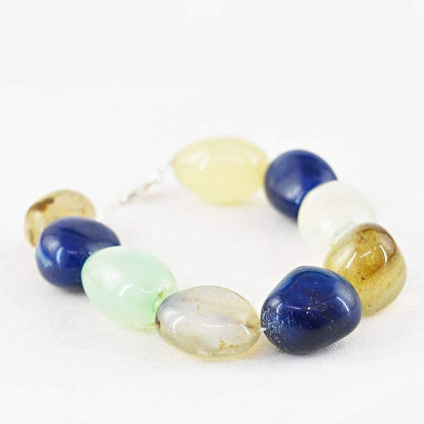 gemsmore:Exclusive Natural Multicolor Onyx Beads Bracelet