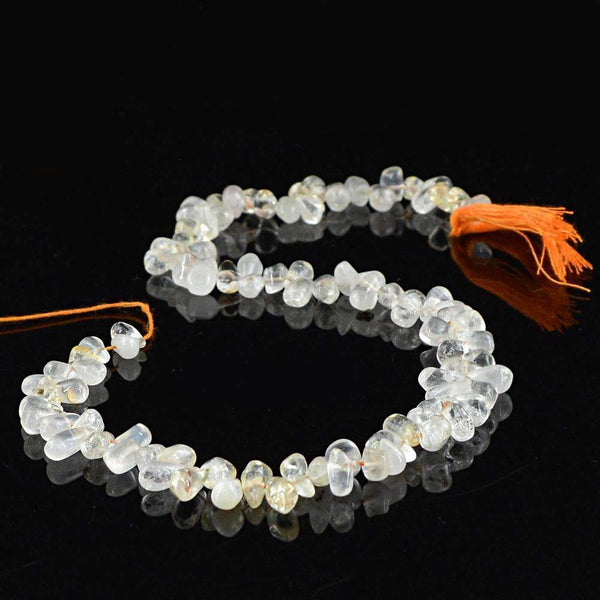 gemsmore:Exclusive Rutile Quartz Beads Strand - Natural Drilled