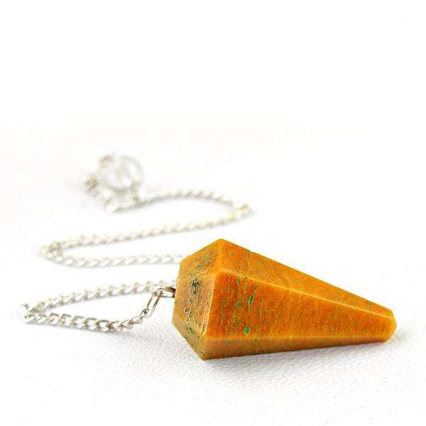 gemsmore:Genuine Jasper Healing Point Pendulum