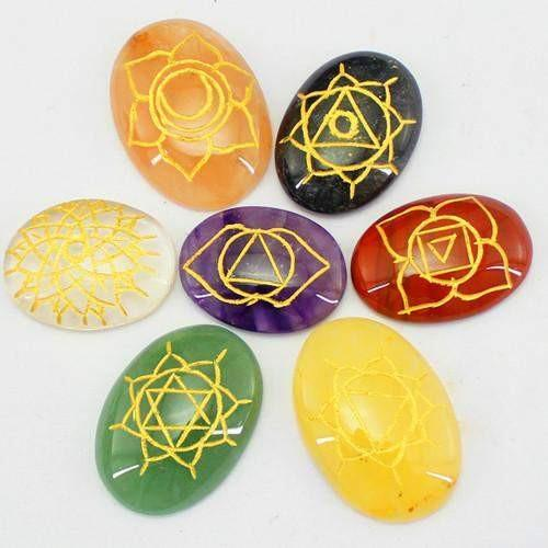 gemsmore:Genuine 7 Chakra Healing Gemstone Lot