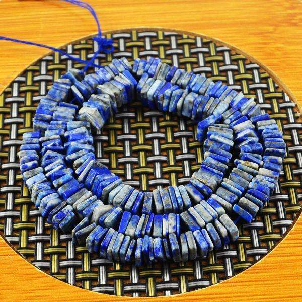 gemsmore:Genuine Amazing Blue Lapis Lazuli Drilled Beads Strand