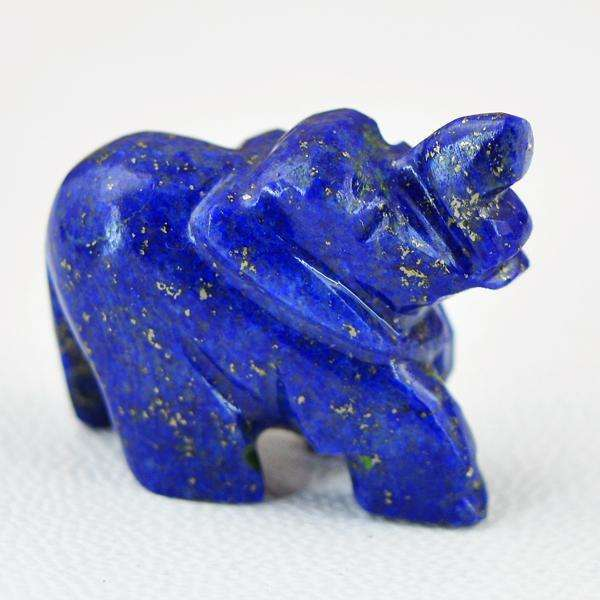 gemsmore:Genuine Amazing Lapis Lazuli Hand Carved Elephant.