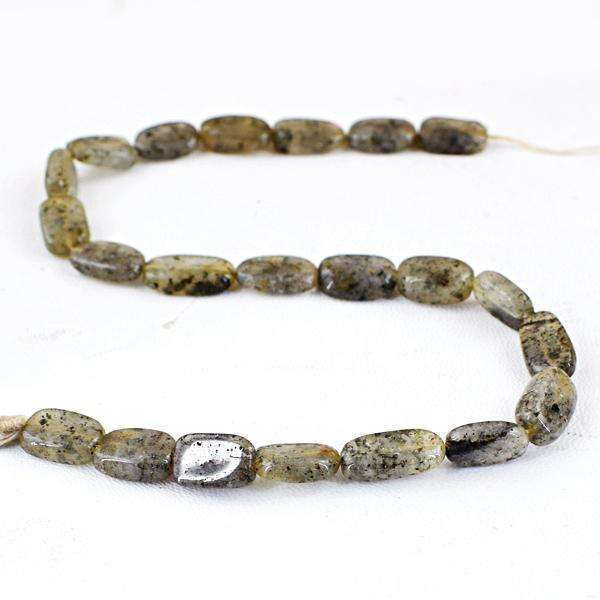 gemsmore:Genuine Amazing Rutile Quartz Drilled Beads Strand