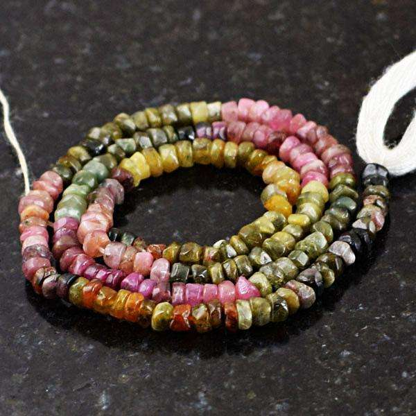 gemsmore:Genuine Amazing Watermelon Tourmaline Drilled Beads Strand
