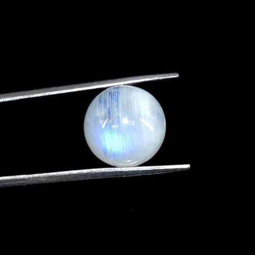 gemsmore:Genuine Blue Color Change Moonstone Round Shape Gemstone