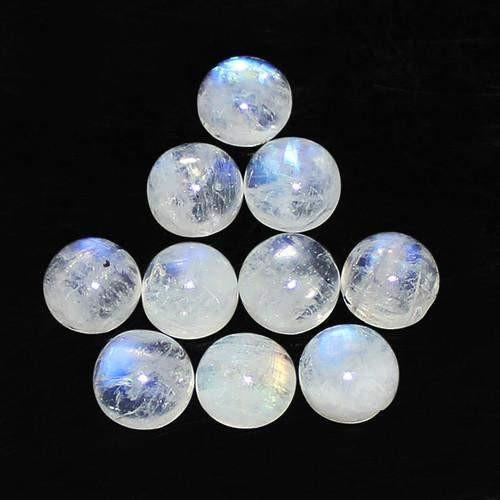 gemsmore:Genuine Blue Color Flash Moonstone Gemstone Lot