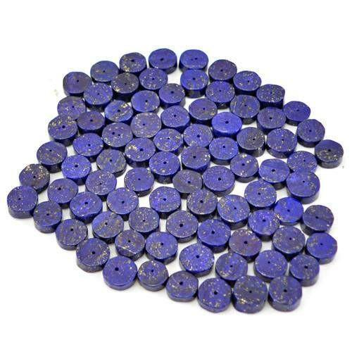 gemsmore:Genuine Blue Lapis Lazuli Drilled Beads Lot