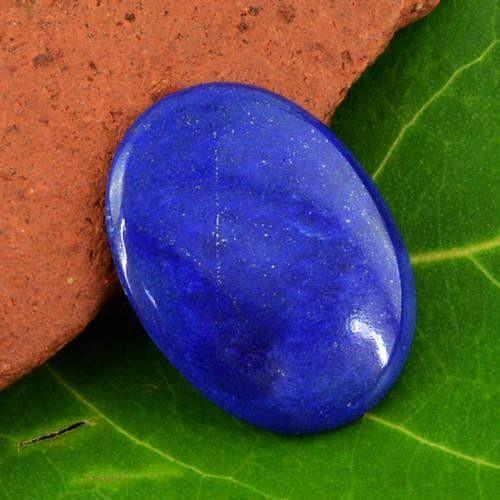 gemsmore:Genuine Blue Lapis Lazuli Oval Shaped Gemstone
