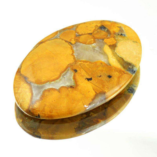 gemsmore:Genuine Cobra Jasper Oval Shape Untreated Loose Gemstone