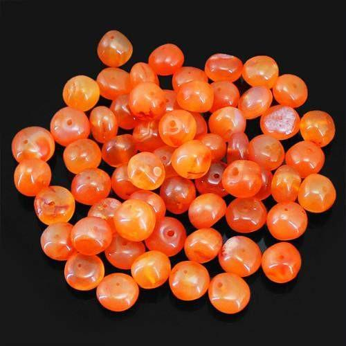 gemsmore:Genuine Drilled Orange Carnelian Beads Lot