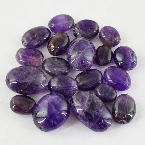 gemsmore:Genuine Drilled Purple Amethyst Beads Lot