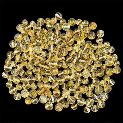 gemsmore:Genuine Drilled Yellow Citrine Beads Lot