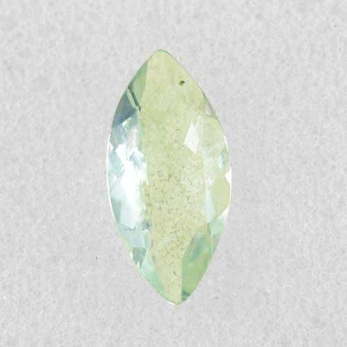 gemsmore:Genuine Faceted Green Amethyst Gemstone