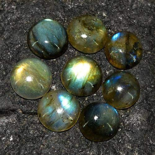 gemsmore:Genuine Labradorite Round Shape Gemstone Lot