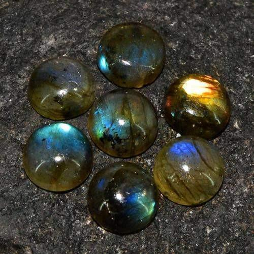 gemsmore:Genuine Labradorite Round Shaped Gemstone Lot
