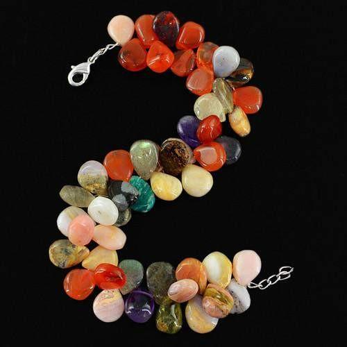 gemsmore:Genuine Multicolor Beads Bracelet