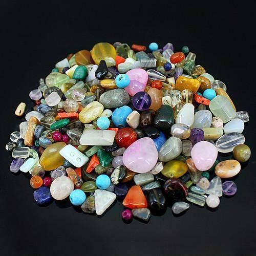 gemsmore:Genuine Multicolor Drilled Beads Lot