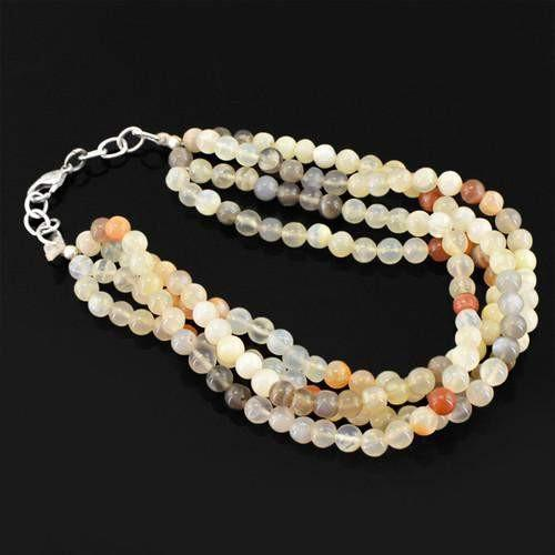 gemsmore:Genuine Multicolor Moonstone AAA Beads Bracelet