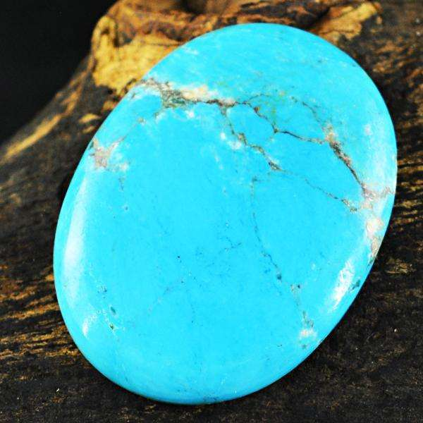 gemsmore:Genuine Oval Shape Turquoise Untreated Loose Gemstone