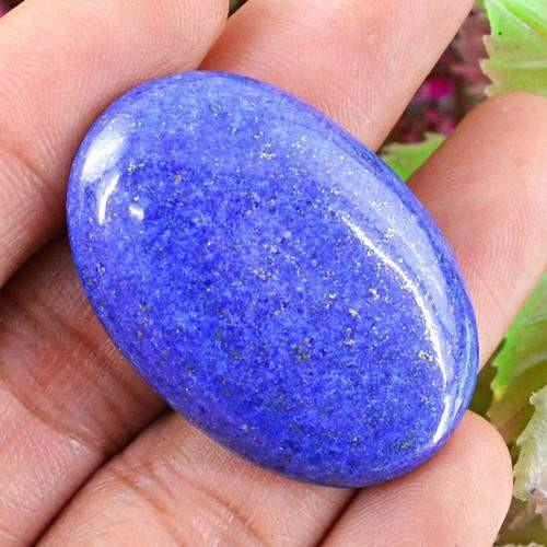 gemsmore:Genuine Oval Shaped Lapis Lazuli Gemstone