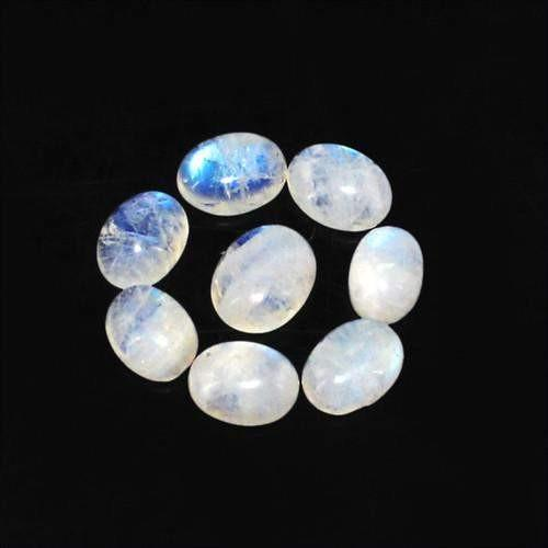 gemsmore:Genuine Oval Shaped Moonstone Gemstone Lot