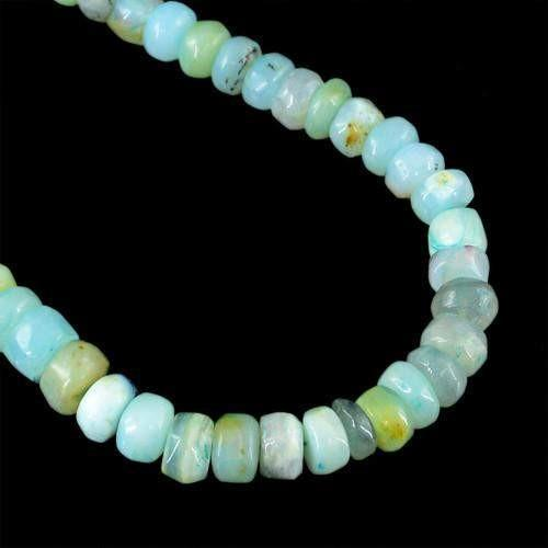 gemsmore:Genuine Peruvian Opal Beads Necklace