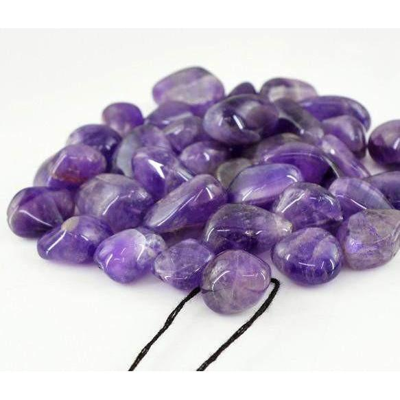 gemsmore:Genuine Purple Amethyst Drilled Beads Lot
