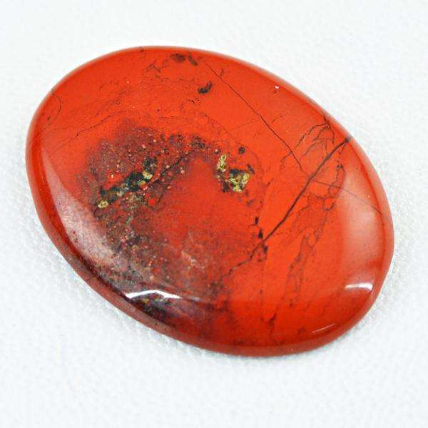 gemsmore:Genuine Red Jasper Oval Shape Loose Gemstone