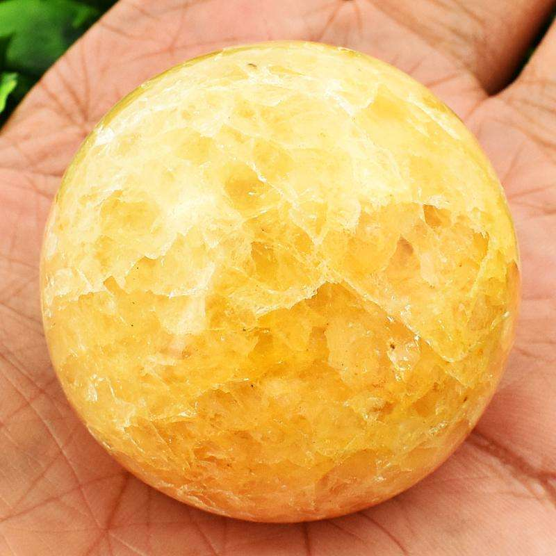 gemsmore:Genuine Yellow Aventurine Carved Healing Sphere