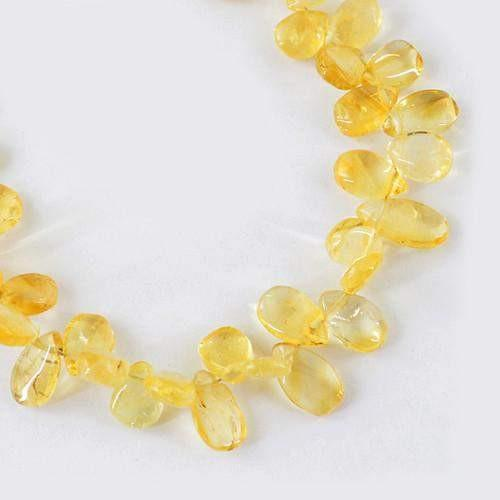 gemsmore:Genuine Yellow Citrine Beads Strand