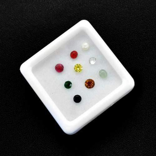 gemsmore:Gift Box of 9 Natural Gemstones