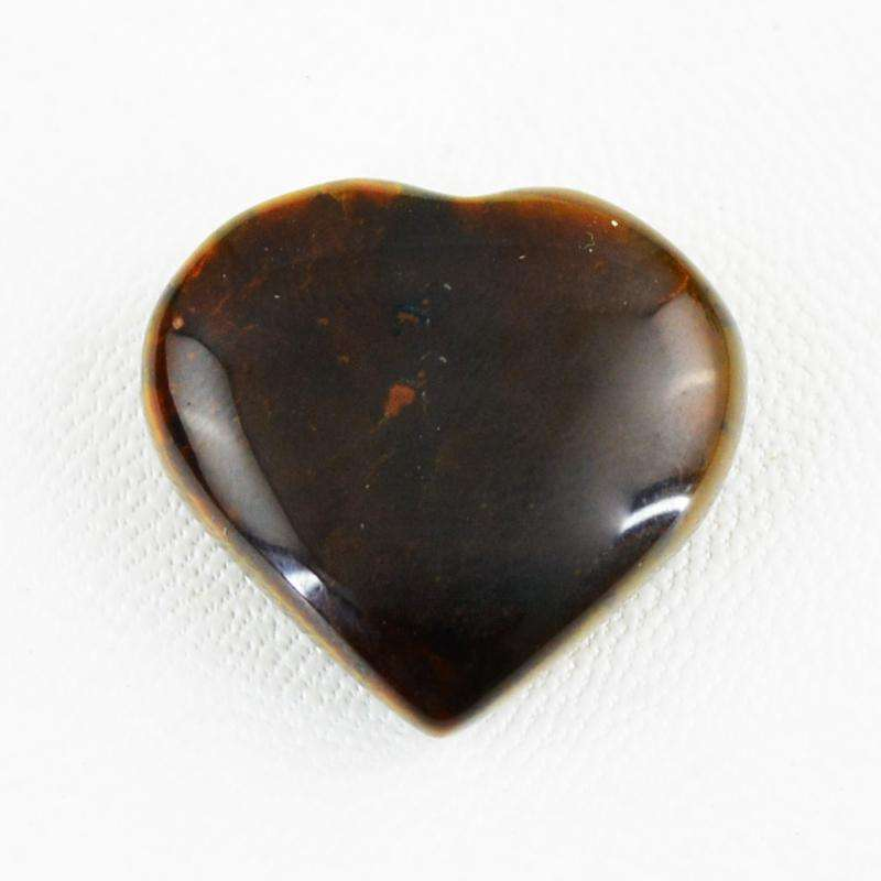 gemsmore:Golden Tiger Eye Gemstone Natural Heart Shape