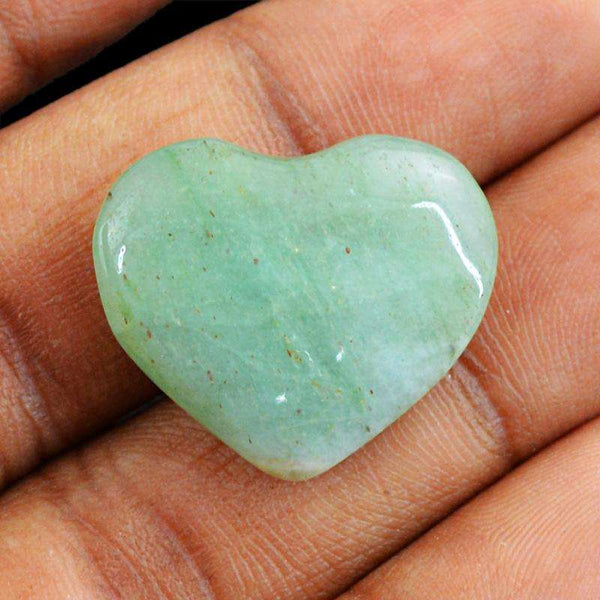 gemsmore:Green Aquamarine Gemstone Natural Heart Shape