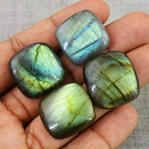 gemsmore:Green Flash Labradorite Wholesale Gemstone Natural Untreated