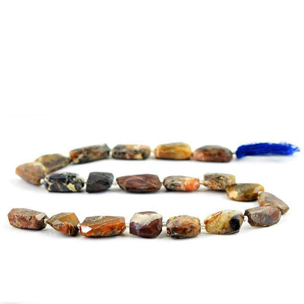 gemsmore:Indian Opal Drilled Beads Strand - Natural Faceted