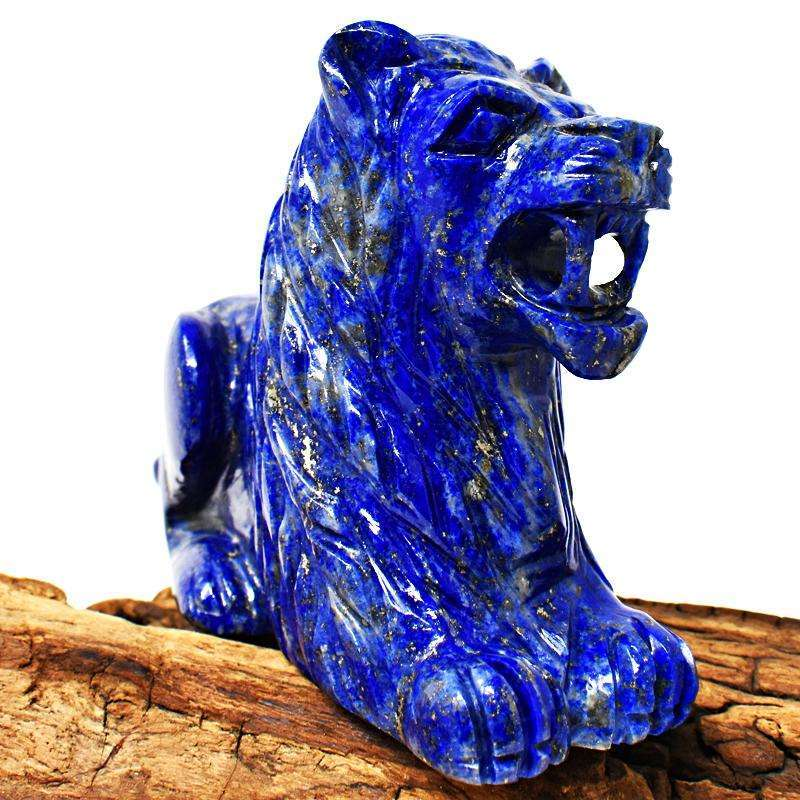 gemsmore:Massive Size Blue Lapis Lazuli Carved Lion