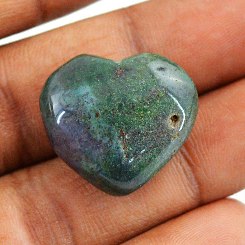 gemsmore:Moss Agate Gemstone Natural Untreated Heart Shape