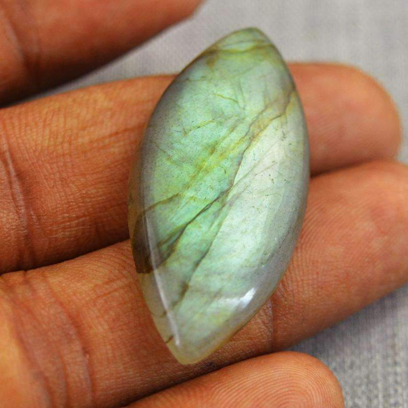 gemsmore:Natural Amazing Green Flash Labradorite Loose Gemstone