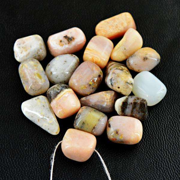 gemsmore:Natural Amazing Pink Australian Opal Drilled Beads Lot