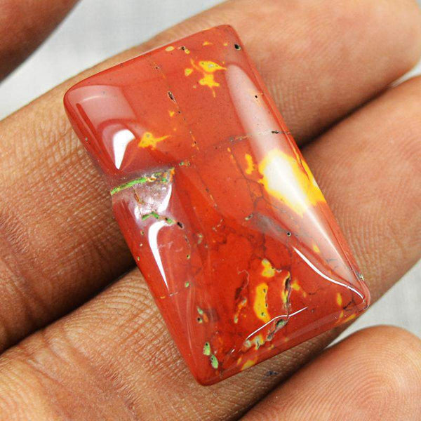 gemsmore:Natural Amazing Red Mookaite Rectangular Shape Gemstone