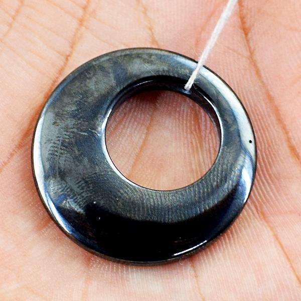 gemsmore:Natural Amazing Round Shape Hematite Untreated Loose Drilled Gemstone