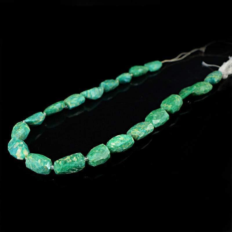 gemsmore:Natural Amazonite Untreated Beads Strand