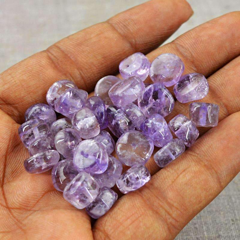 gemsmore:Natural Bi-Color Amethyst Beads Lot - Drilled Round Shape