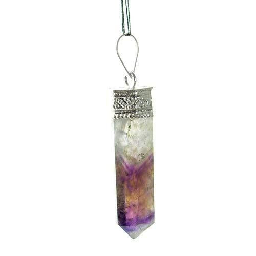 gemsmore:Natural Bi Color Amethyst Healing Point Pendant