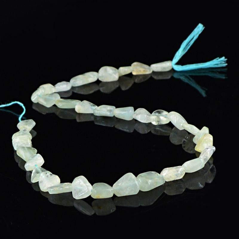gemsmore:Natural Blue Aquamarine Untreated Beads Strand