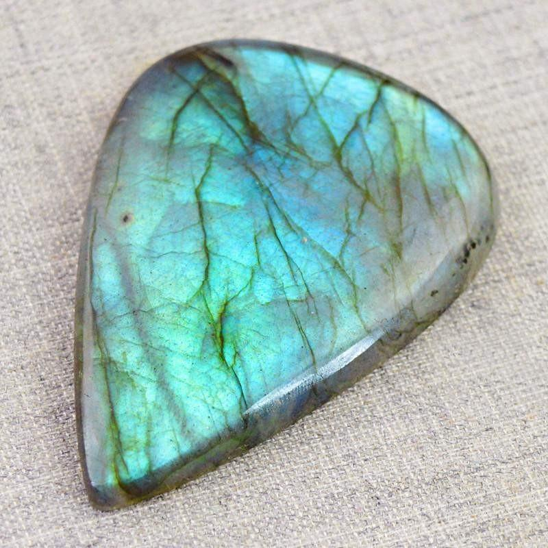 gemsmore:Natural Blue Color Flash Labradorite Pear Shape Gemstone