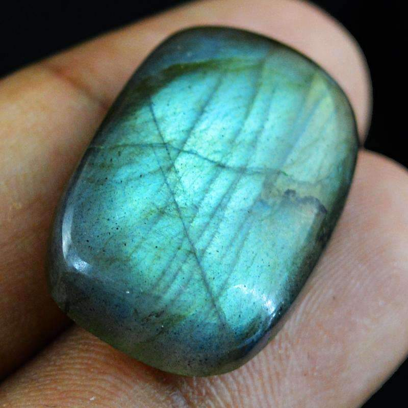 gemsmore:Natural Blue Flash Labradorite Gemstone - Loose Untreated