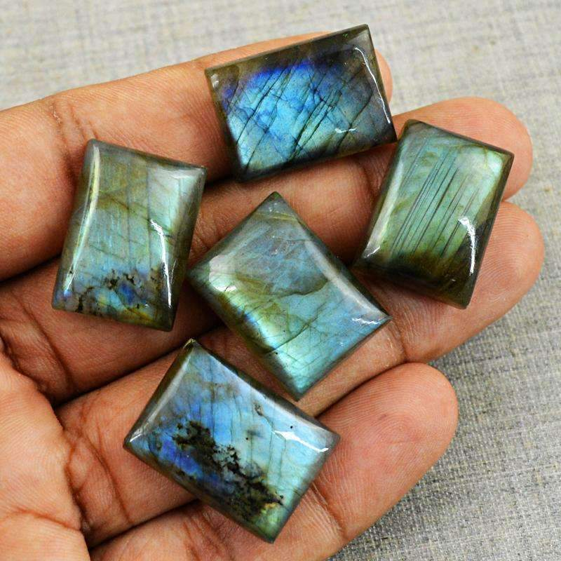 gemsmore:Natural Blue Flash Labradorite Wholesale Gemstone
